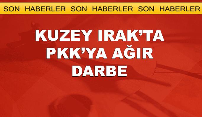 Kuzey Irak operasyonunda PKK'ya ağır darbe