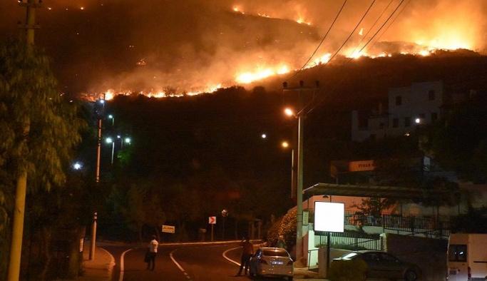 Manavgat'taki yangında 10 hektarlık alan kül oldu