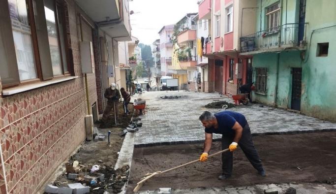 Süleymanpaşa Belediyesi yol çalışmalarını sürdürüyor