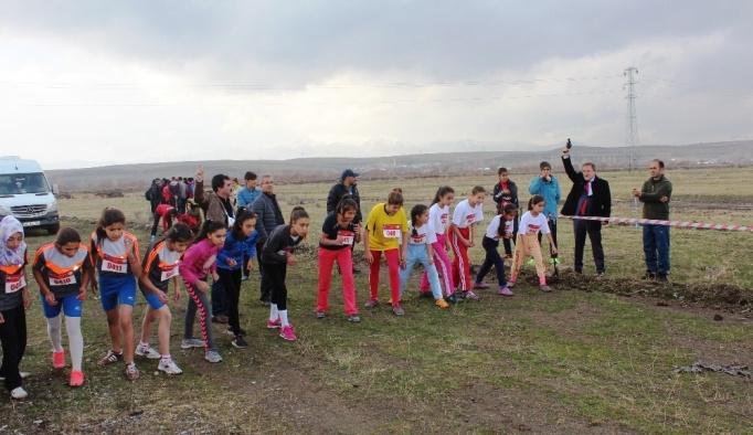 Ağrı'da okullar arası kros yarışması  yapıldı
