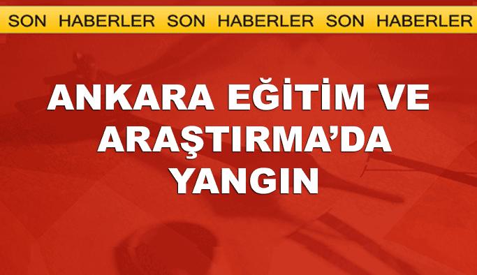 'Ankara Eğitim ve Araştırma'da yangın