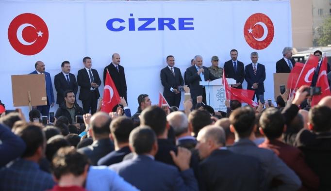 Başbakan Yıldırım, Cizrelilere hitap etti