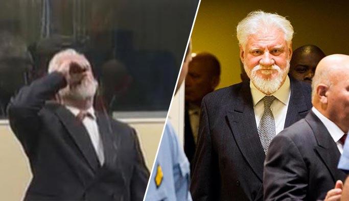 Boşnak katili Hırvat general mahkemede zehir içerek intihar etti