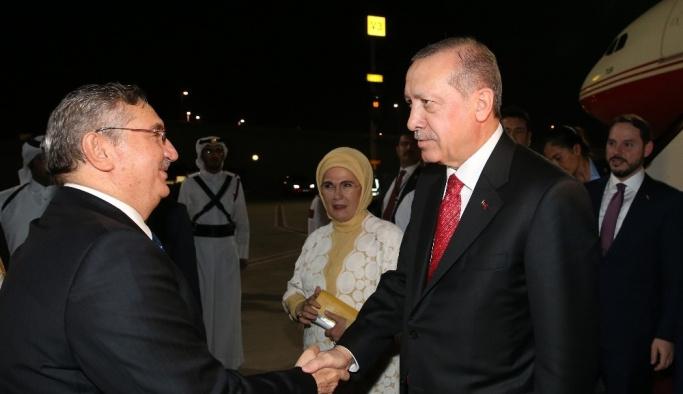 Cumhurbaşkanı Erdoğan Kuveyt'ten Katar'a geçti