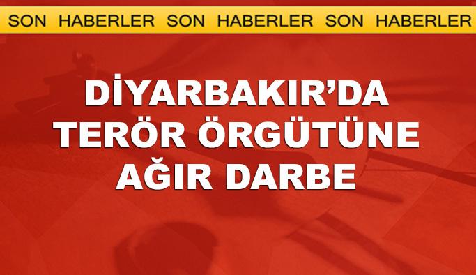 Diyarbakır'da terör örgütüne ağır darbe