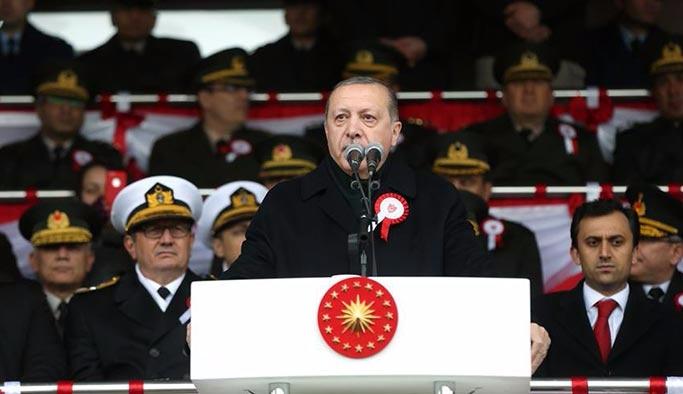 Erdoğan: Başımız belaya girdiğinde yardım edecek hiçbir uluslararası kurum yok