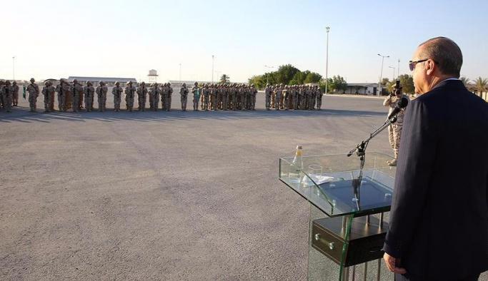 Erdoğan, Katar'daki TSK birliklerini ziyaret etti