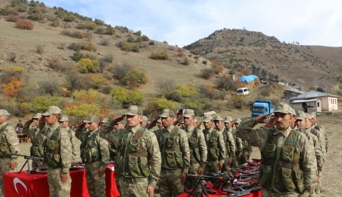 Erzurum'da 30 güvenlik korucusunun yemin töreni