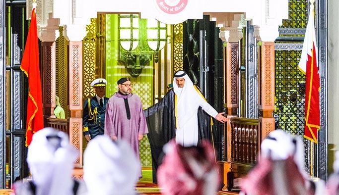 Fas Kralı Muhammed'den Katar Emiri'ne 'anlamlı' destek