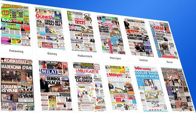Gazete manşetleri 7 Kasım 2017