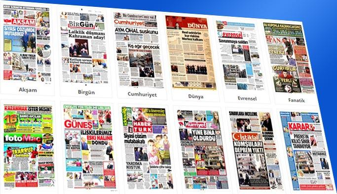 Gazetelerin bugünkü manşetleri 14 Kasım 2017