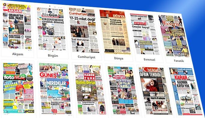 Gazetelerin bugünkü manşetleri 16 Kasım 2017