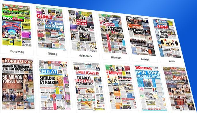 Gazetelerin bugünkü manşetleri 1 Kasım 20147