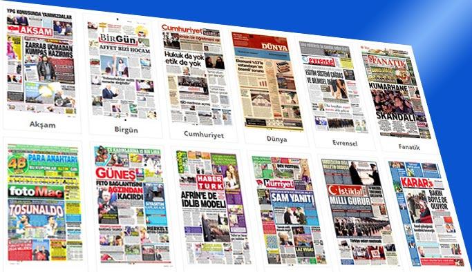 Gazetelerin bugünkü manşetleri 24 Kasım 2017