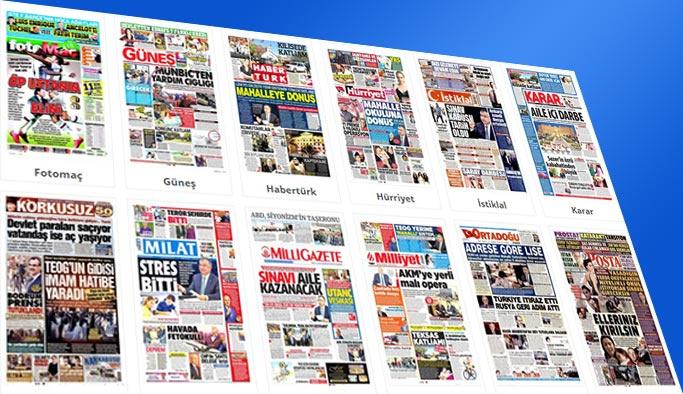 Gazete manşetleri 6 Kasım 2017