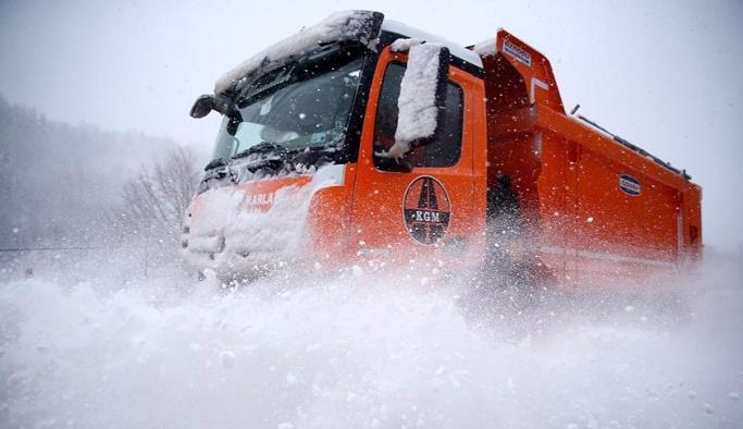 Karla mücadeleye kameralı takip