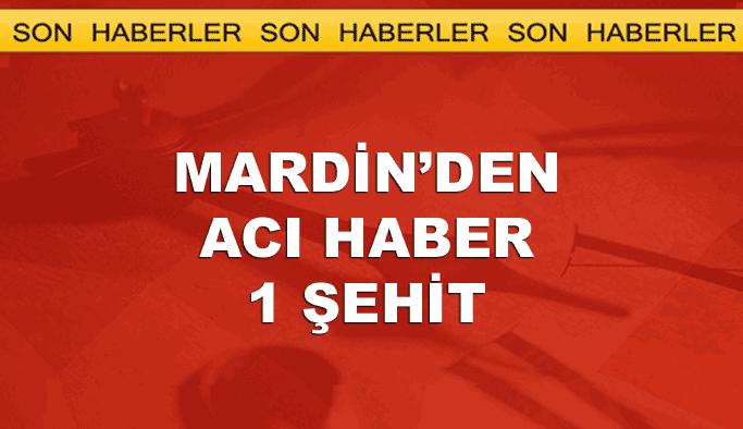 Mardin'de trafik kazasında 1 polis şehit oldu