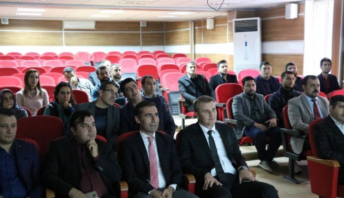 Müdür Kızılkaya ilçe milli eğitim müdürleriyle toplantı yaptı