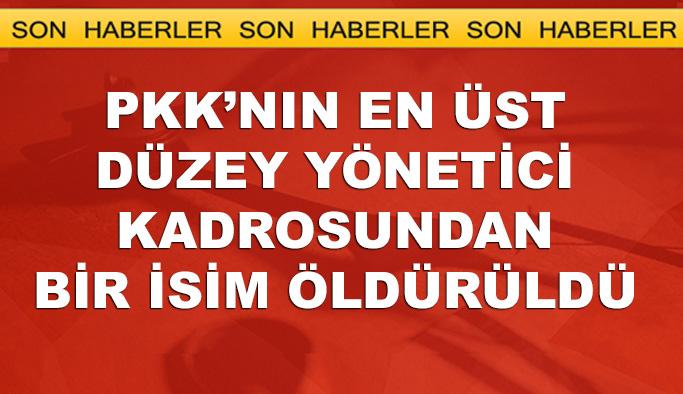 PKK'nın üst düzey yönetimindeki isim öldürüldü