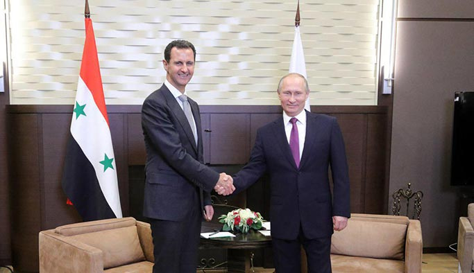 Putin ve Esed kritik zirve öncesinde Soçi'de buluştu