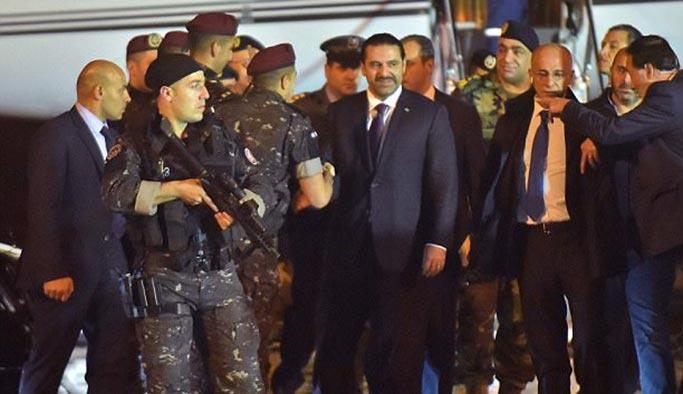 Saad Hariri Lübnan'da bordo bereliler tarafından karşılandı