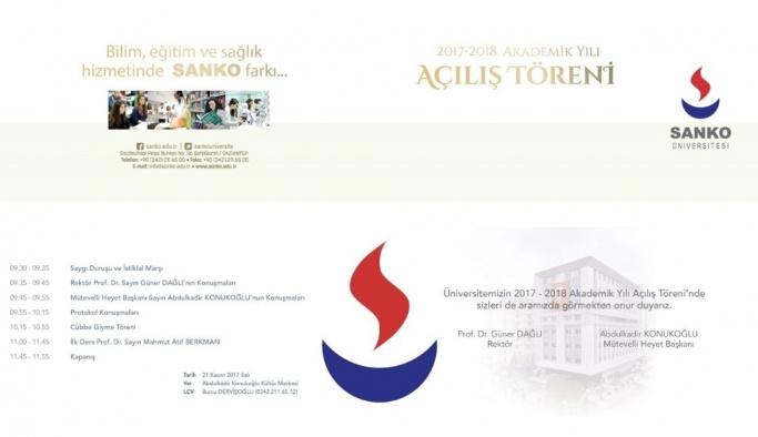 SANKO Üniversitesi akademik açılış töreni