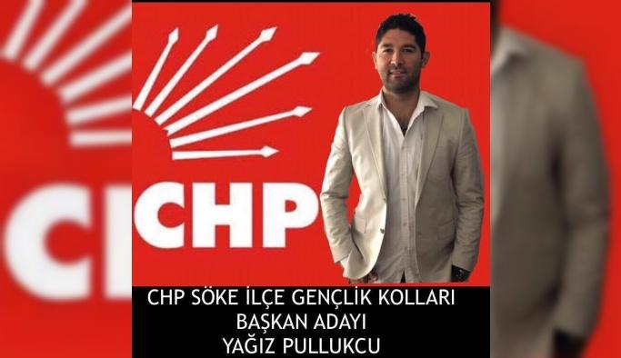 Söke CHP Gençlik Kollarında Yağız Pullukçu adaylığını açıkladı