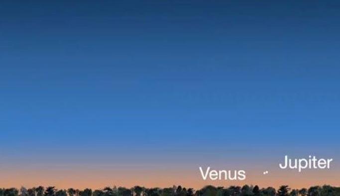 Venüs ve Jüpiter ilk kez bir arada