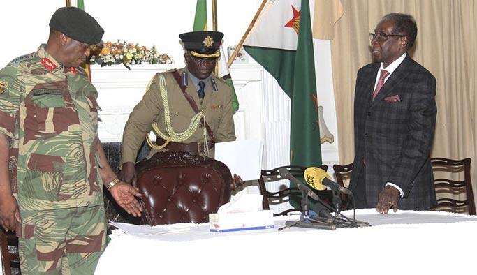 Zimbabve Devlet Başkanı Mugabe istifayı kabul etti