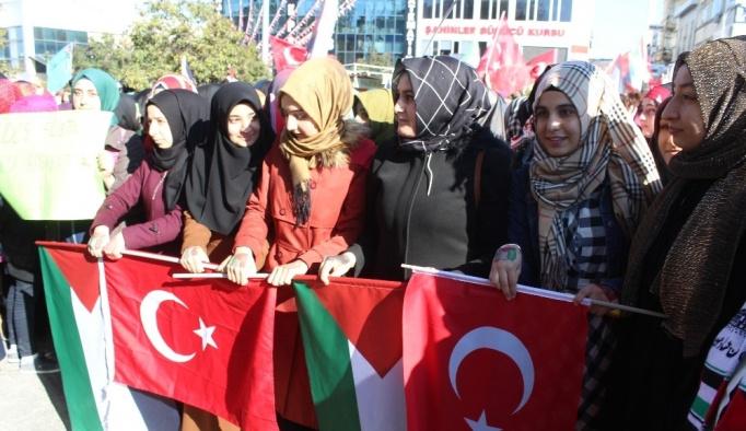 ABD'ye Kudüs protestosu