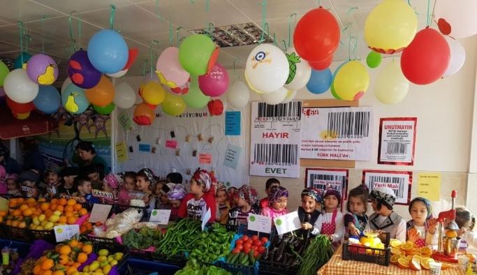 Anasınıfı öğrencilerinden pazar yeri etkinliği
