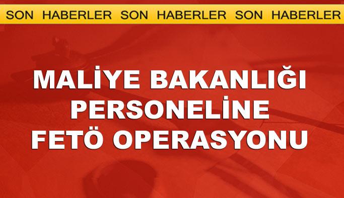 Ankara'da Maliye Bakanlığı personeline FETÖ operasyonu