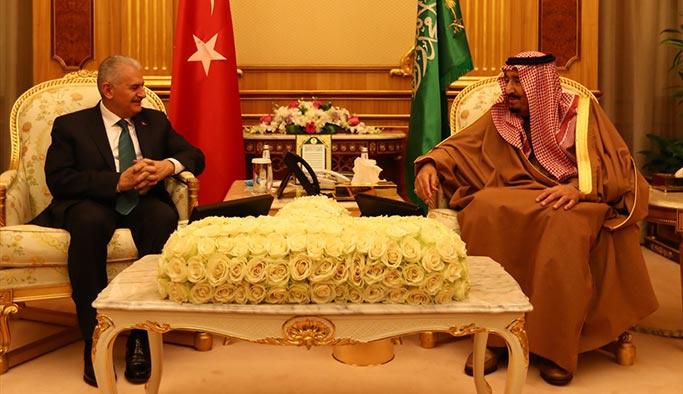 Başbakan Yıldırım, Suud Kralı Selman ile görüştü