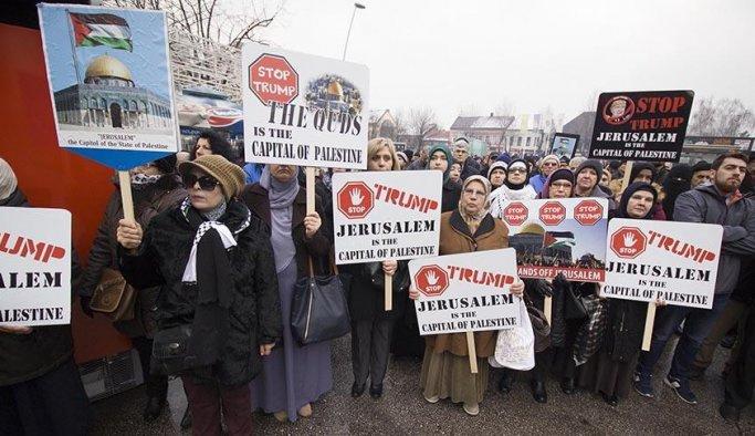 Bosna Hersek'te Filistin'e destek eylemleri