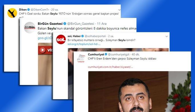CHP ve yandaş medyası bütün gücüyle Süleyman Soylu'ya saldırıya geçti