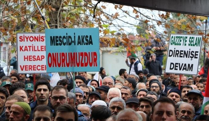 Cumhurbaşkanı Erdoğan'ın memleketi Kudüs için ayakta
