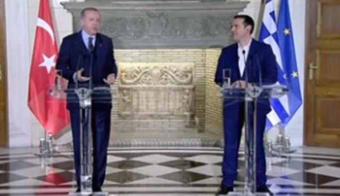 Erdoğan-Çipras toplantısında gerilim