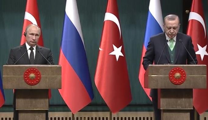 Erdoğan ile Putin'den ortak açıklama