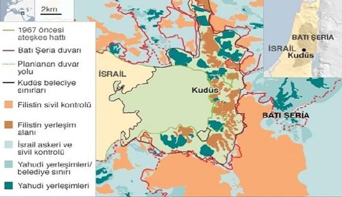 Filistin'in Başkenti Doğu Kudüs neresi?