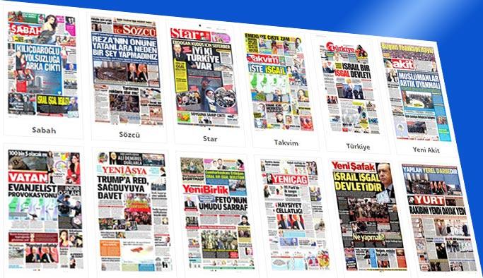 Gazete manşetleri 10 Aralık 2017