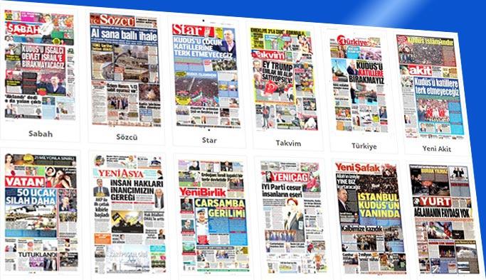 Gazete manşetleri 11 Aralık 2017