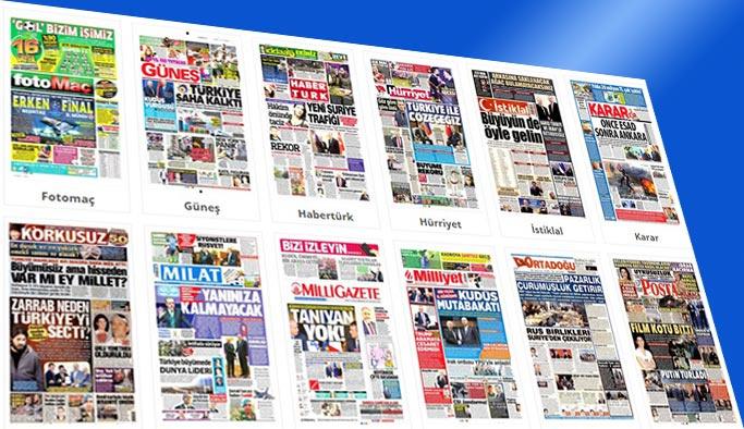 Gazete manşetleri 12 Aralık 2017
