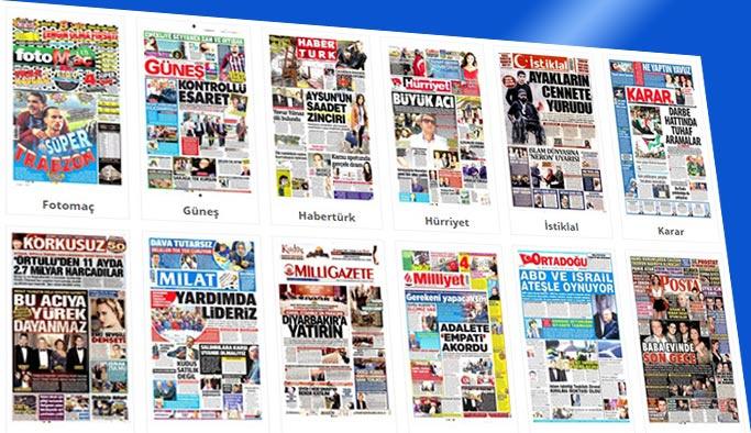 Gazete manşetleri 17 Aralık 2017