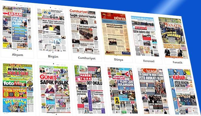 Gazete manşetleri 19 Aralık 2017