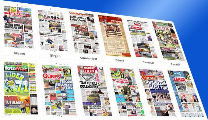 Gazete manşetleri 24 Aralık 2017