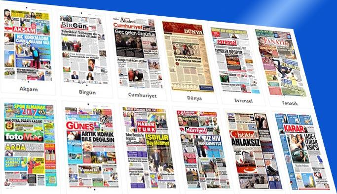 Gazete manşetleri 30 Aralık 2017