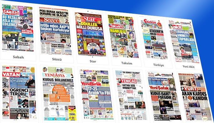 Gazetelerin bugünkü manşetleri 16 Aralık 2017