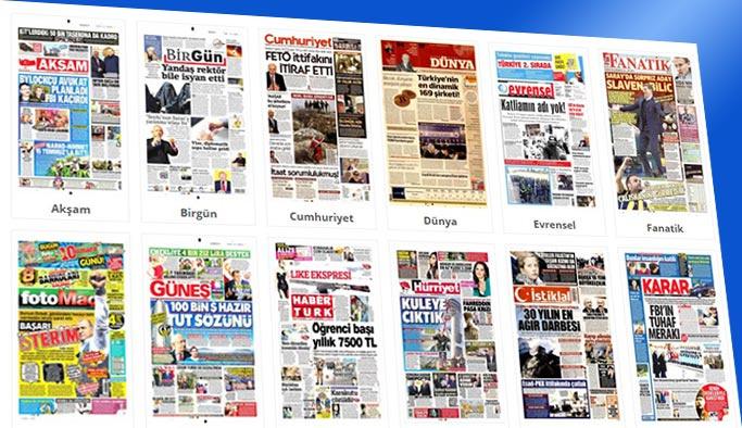 Gazetelerin bugünkü manşetleri 20 Aralık 2017