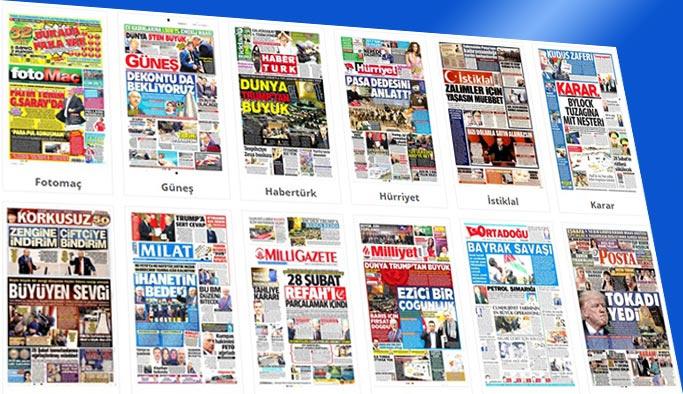 Gazetelerin bugünkü manşetleri 22 Aralık 2017