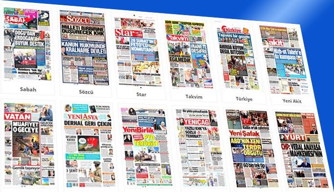 Gazetelerin bugünkü manşetleri 26 Aralık 2017